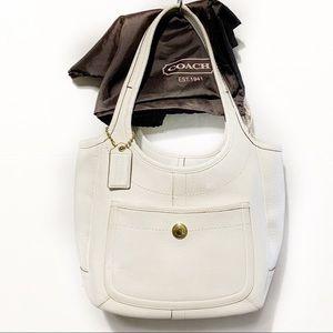 COACH HOBO WHITE LEATHER BAG TOTE